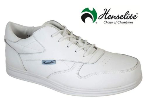 Henselite bowls shoes white or brown